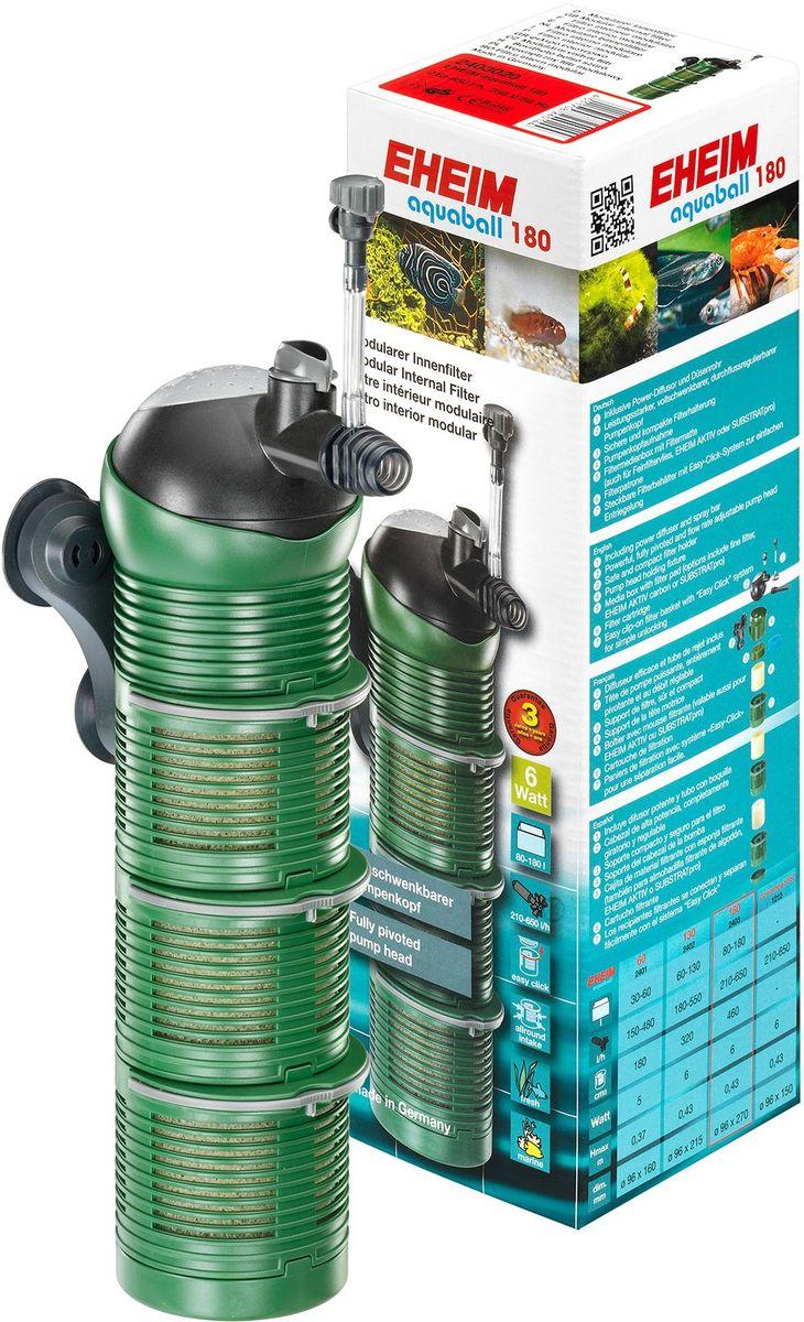 Фильтр внутренний Eheim Aquaball 1800120710Фильтр внутренний Eheim Aquaball 180 снабжен поворотной головкой для регулировки направления потока воды. Шарообразная головка насоса находится в шаровом шарнире и может поворачиваться вправо. Таким образом, отток фильтрованной воды может быть направлен в любом направлении. Всасывание воды со всех сторон для эффективного использования всего фильтра. Диффузор мощности регулируется для регулирования подачи воздуха и, следовательно, обогащения кислорода в аквариуме. Непосредственно под головкой насоса находится медиана. Благодаря модульной конструкции фильтровальные картриджи или среды можно очищать с различными интервалами, тем самым сохраняя культуры бактерий. Круглые фильтрующие модули сконструированы таким образом, что вода равномерно поглощается со всех сторон по всей поверхности. Фильтр Eheim Aquaball 180 просто крепится к стеклу с присосками. Для очистки, замены модулей или заполнения фильтрующим материалом фильтр просто удаляется из держателя. Для аквариумов: 80-180 л.Мощность насоса (50 Гц): 210-650 л/ч.Насосная головка (H max при 50 Гц): 0,43 м.Мощность (50 Гц): 6 ватт.Объем фильтра: 0,46 л.Высота: 270 мм.Диаметр фильтра: 96 мм.Напряжение: 230 вольт.