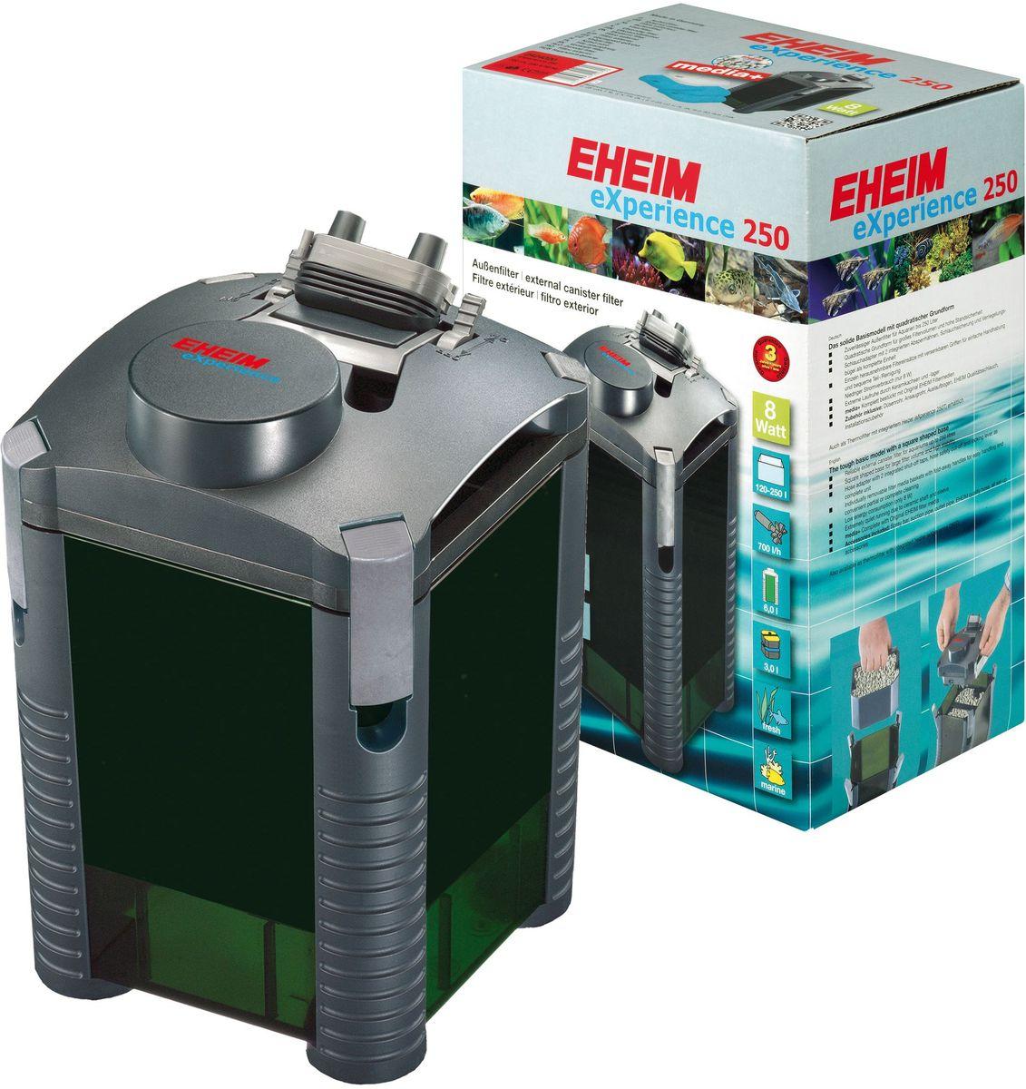 Фильтр внешний Eheim Experience 2500120710Прочная базовая модель квадратной формы для фильтров большого обьема и высокой устойчивости. Съёмный адаптер для шланга со встроенными запорными кранами,защитным покрытием шланга и прижимной скобой в виде единого блока. Отдельно съёмные корзины для наполнителей с выдвижными ручками для удобства при перемещении и удобной частичной/полной очистки.