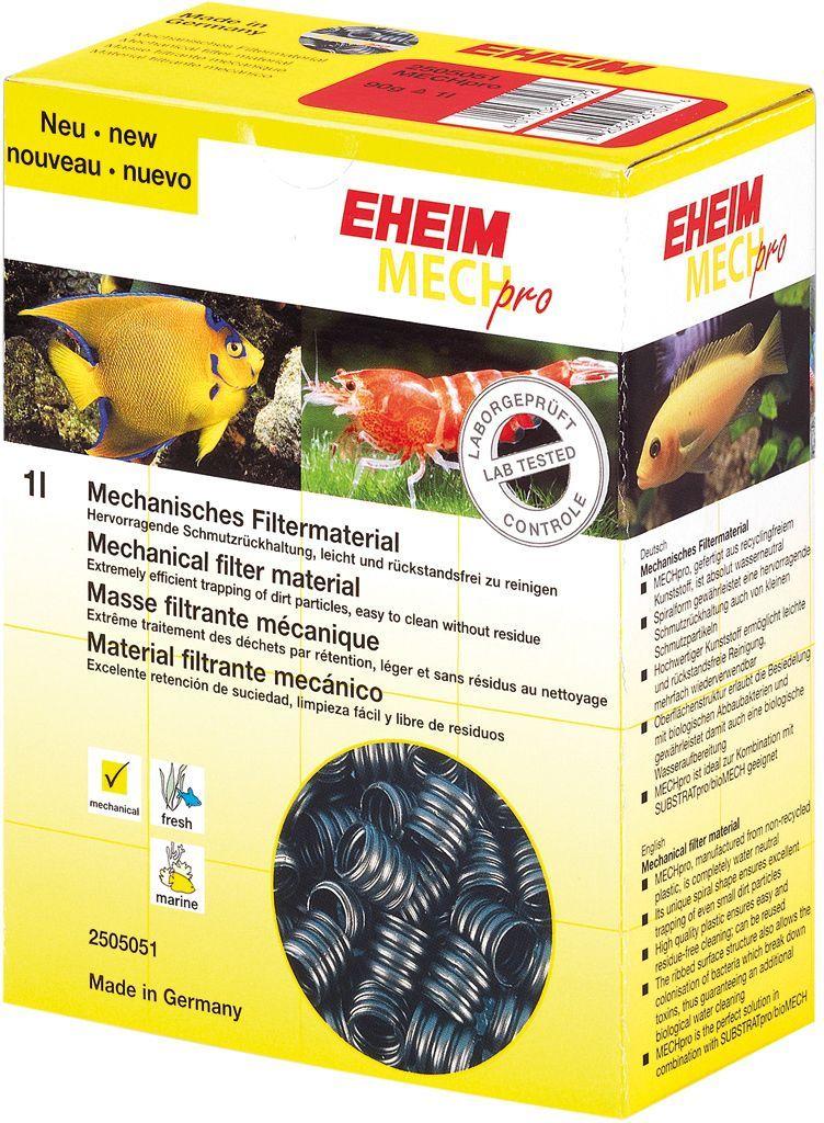 Наполнитель для фильтра Eheim Mechpro, пластик спираль, 2 лART-1130103Механический фильтрующий материал Eheim Mechpro выполнен из нейтрального к воде пластика спиральной формы. Специальная форма обеспечивает запах даже небольших частиц грязи. Кроме того, структура поверхности позволяет создавать колонии бактерий для биофильтрации. Для морских и пресноводных аквариумов.