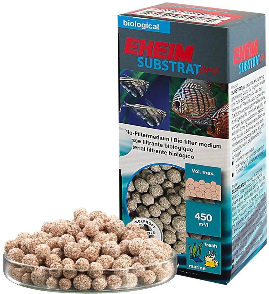 Наполнитель для фильтра Eheim Substratpro, субстрат круглый, 250 мл2510021Наполнитель для фильтра Eheim Substratpro - фильтрующий материал сферической формы, эффективно заполняющий объем фильтра, предоставляет максимальную площадь для размещения колоний бактерий. Снижает пиковые показатели нитритов. Для морских и пресноводных аквариумов.