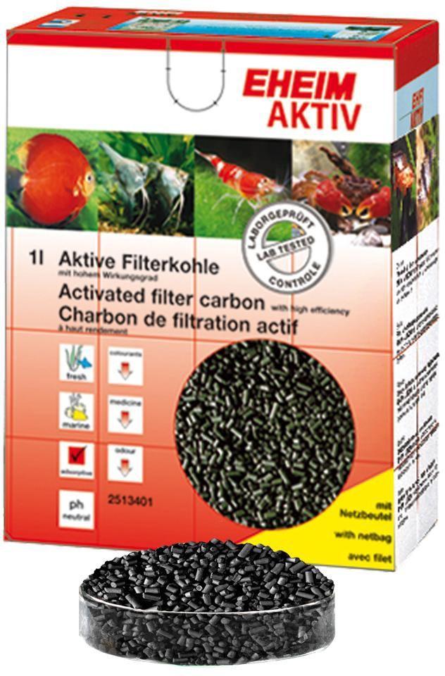 Наполнитель для фильтра Eheim Aktiv Carbon, угольный, 2 л0120710Угольный наполнитель для фильтра Ehaim Aktiv Carbon обеспечивает быстрый сбор растворенных в воде вредных веществ,пестицидов. Не содержит тяжелых металлов, обладает нейтральным уровнем pH. Наполнитель для фильтра Eheim Aktiv Carbon обладает большей эффективностью по сбору вредных веществ.
