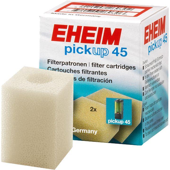 Картридж для фильтра Eheim Pickup 45, поролон, 2 шт0120710Прямоугольный фильтрующий картридж Eheim Pickup 45 из пористой губки для фильтров Pickup применяется для грубой очистки воды.