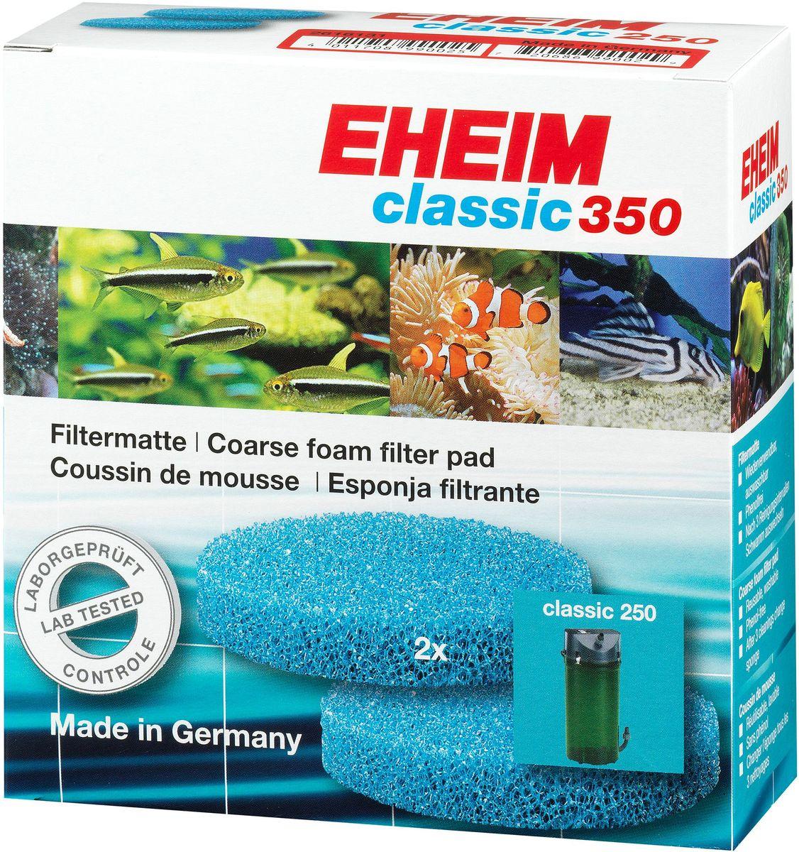 Наполнитель для фильтра Eheim Classic 350, поролон, 2 шт0120710Пористая губка для фильтров Eheim Classic 350 для механической и биологической очистки воды.
