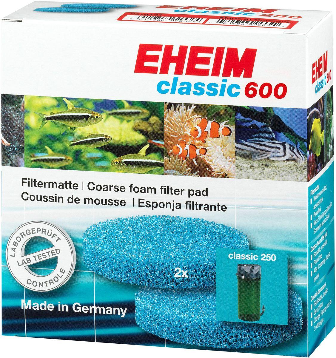 Наполнитель для фильтра Eheim Classic 600, поролон, 2 штг-1001Грубая пористая губка для фильтров Eheim Classic 600 обеспечивает механическую и биологическую очистку воды.