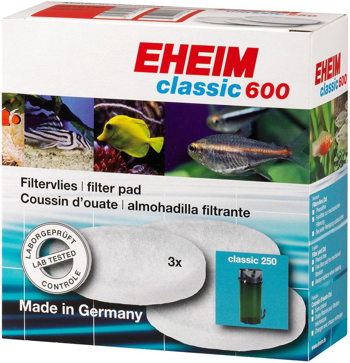 Наполнитель для фильтра Eheim Classic 600, синтепон, 3 шт0120710Мелкопористая губка для фильтров Eheim Classic 600 предназначена для завершающей стадии очистки воды.