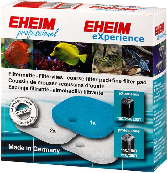 Наполнитель для фильтра Eheim Experience 150/250, 3 шт0120710Набор фильтрующих губок для фильтра Eheim Experience. В набор входят: 1 губка из поролона для префильтра и 4 синтепоновые губки тонкой очистки.