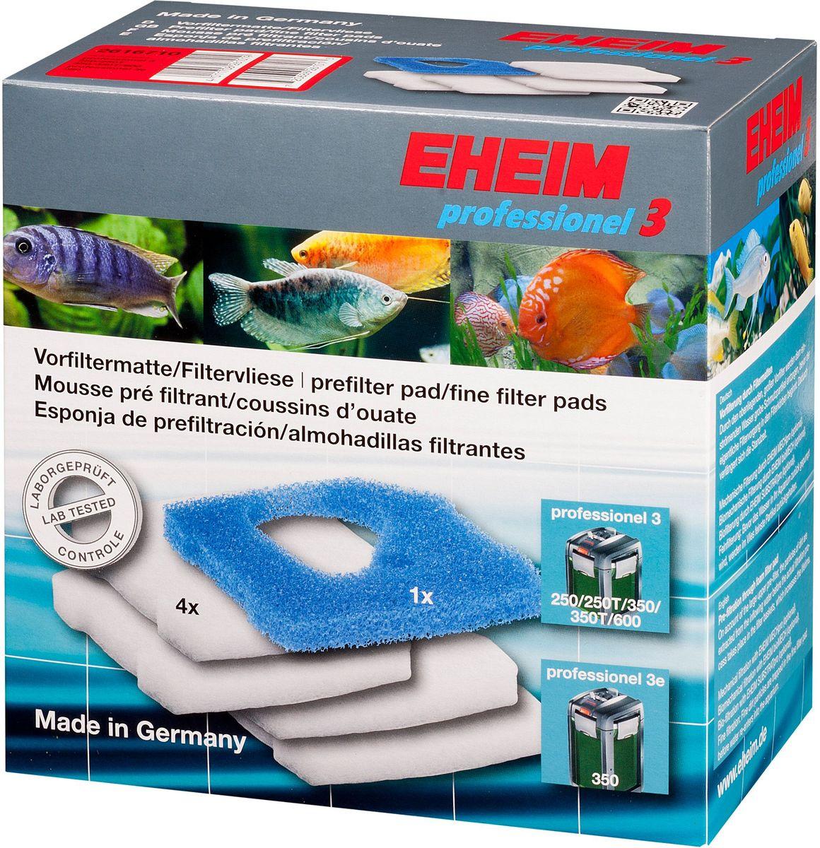 Наполнитель для фильтра Eheim Professionel 3 250/350/600, 5 шт0120710Набор фильтрующих губок для фильтра Eheim Professionel 3. В набор входят: 1 губка из поролона для префильтра и 4 синтепоновые губки тонкой очистки.