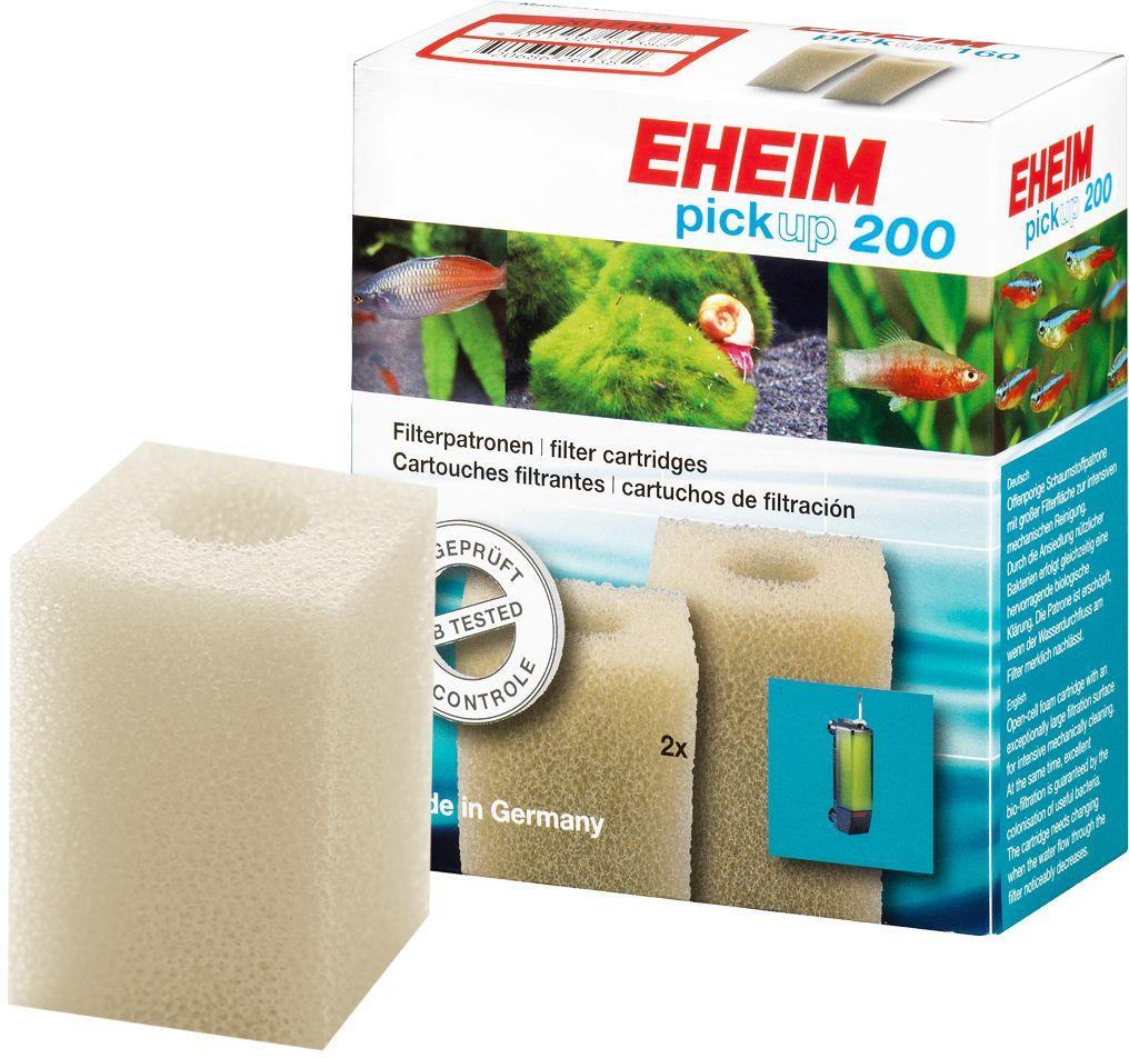 Картридж для фильтра Eheim Pickup 200, поролон, 2 шт0120710Прямоугольный фильтрующий картридж Eheim Pickup 200 из пористой губки для фильтров Pickup применяется для грубой очистки воды.