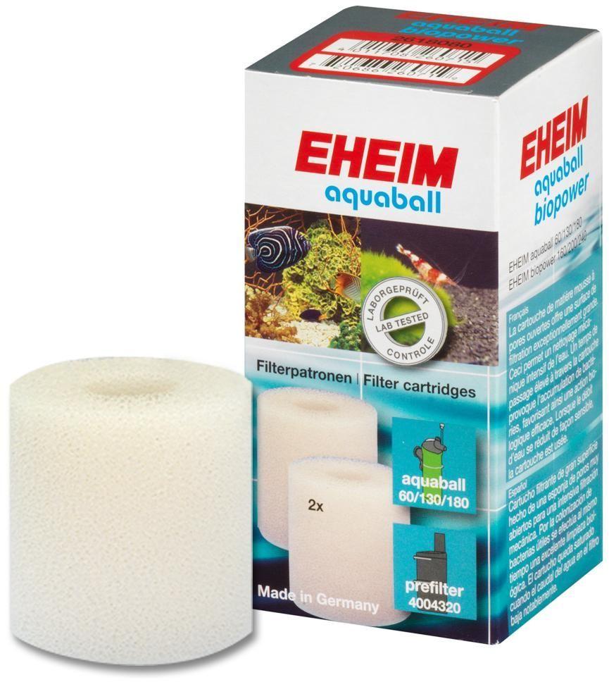 Картридж для фильтра Eheim Aquaball Biopower, поролон, 2 шт0120710Картридж фильтрующий из губки для фильтров AQUABALL-60/130/180 BIOPOWER 160/200/240 предназначен для механической и биологической очистки воды