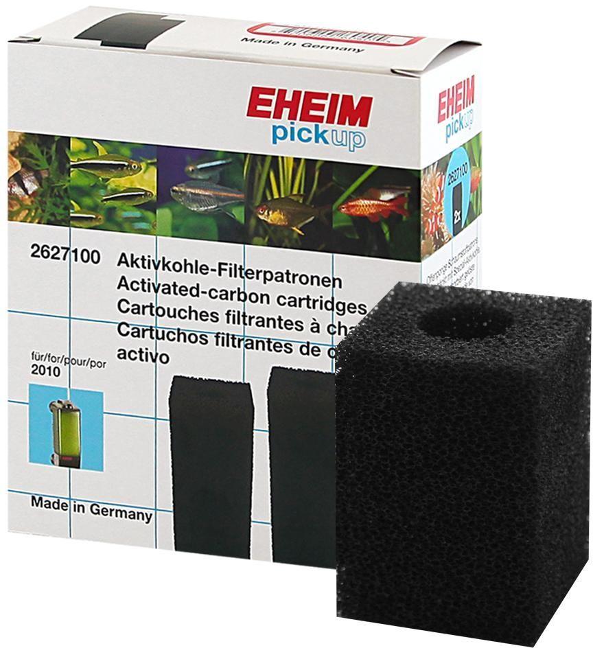 Картридж для фильтра Eheim Pickup 160, поролон угольный, 2 шт0120710Прямоугольный картридж Eheim Pickup 160 из пористой губки с активированным углем для фильтров Pickup применяется при запуске аквариума или после медикаментозного лечения.