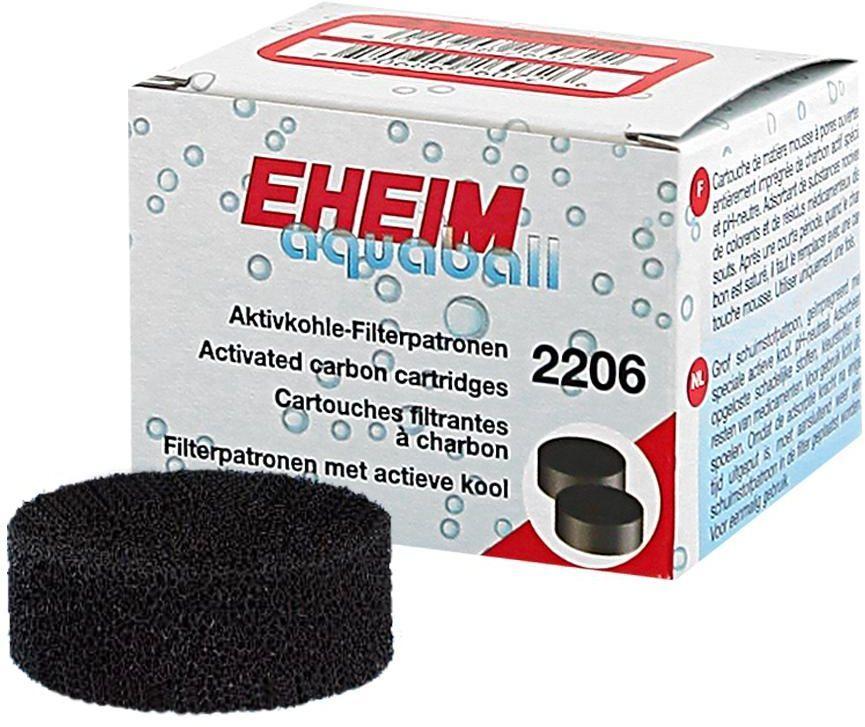 Картридж для фильтра Eheim Aquaball Biopower, диск / уголь, 2 шт0120710Картридж Eheim Aquaball Biopower из пористой губки с активированным углем для фильтров Aquaball 45 и Biopower 160/200/240 применяется при запуске аквариума или после медикаментозного лечения.