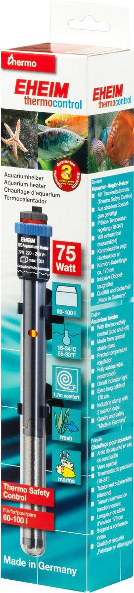 Нагреватель воды для аквариума Eheim Jager, 75 Вт0120710Аквариумный нагреватель Eheim Jager изготовлен из высокопрочного специального стекла, которое увеличивает поверхность нагрева и обеспечивает оптимальное равномерное тепловыделение. Имеет удобную регулировку температуры. Нагреватель герметичен, можно полностью погружать в воду. Обеспечивает высокую точность заданной температуры +/-0,5°С. В комплекте имеется две присоски.Для пресноводных и морских аквариумов.Минимальная температура: 18 °С.Максимальная температура: 34 °С.Производительность при 50 Гц: 75 ватт.Для аквариумов объемом: 60-100 л.Длина нагревателя: 270 мм.Длина кабеля: 170 см.