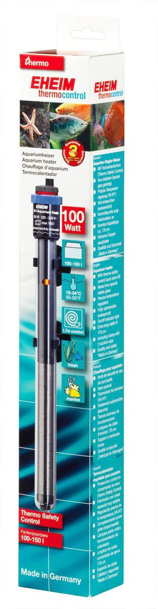 Нагреватель воды для аквариума Eheim Jager, 100 Втг-1002Аквариумный нагреватель Eheim Jager изготовлен из высокопрочного специального стекла, которое увеличивает поверхность нагрева и обеспечивает оптимальное равномерное тепловыделение. Имеет удобную регулировку температуры. Нагреватель герметичен, можно полностью погружать в воду. Обеспечивает высокую точность заданной температуры +/-0,5°С. В комплекте имеется две присоски.Для пресноводных и морских аквариумов.Минимальная температура: 18 °С.Максимальная температура: 34 °С.Производительность при 50 Гц: 100 ватт.Для аквариумов объемом: 100-150 л.Длина нагревателя: 319 мм.Длина кабеля: 170 см.