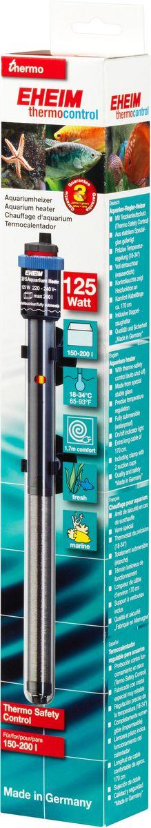 Нагреватель воды для аквариума Eheim Jager, 125 ВтUDC10330Аквариумный нагреватель Eheim Jager изготовлен из высокопрочного специального стекла, которое увеличивает поверхность нагрева и обеспечивает оптимальное равномерное тепловыделение. Имеет удобную регулировку температуры. Нагреватель герметичен, можно полностью погружать в воду. Обеспечивает высокую точность заданной температуры +/-0,5°С. В комплекте имеется две присоски.Для пресноводных и морских аквариумов.Минимальная температура: 18 °С.Максимальная температура: 34 °С.Производительность при 50 Гц: 125 ватт.Для аквариумов объемом: 150-200 л.Длина нагревателя: 319 мм.Длина кабеля: 170 см.