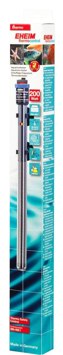 Нагреватель воды для аквариума Eheim Jager, 200 Вт0120710Аквариумный нагреватель Eheim Jager изготовлен из высокопрочного специального стекла, которое увеличивает поверхность нагрева и обеспечивает оптимальное равномерное тепловыделение. Имеет удобную регулировку температуры. Нагреватель герметичен, можно полностью погружать в воду. Обеспечивает высокую точность заданной температуры +/-0,5°С. В комплекте имеется две присоски.Для пресноводных и морских аквариумов.Минимальная температура: 18 °С.Максимальная температура: 34 °С.Производительность при 50 Гц: 200 ватт.Для аквариумов объемом: 300-400 л.Длина нагревателя: 406 мм.Длина кабеля: 170 см.