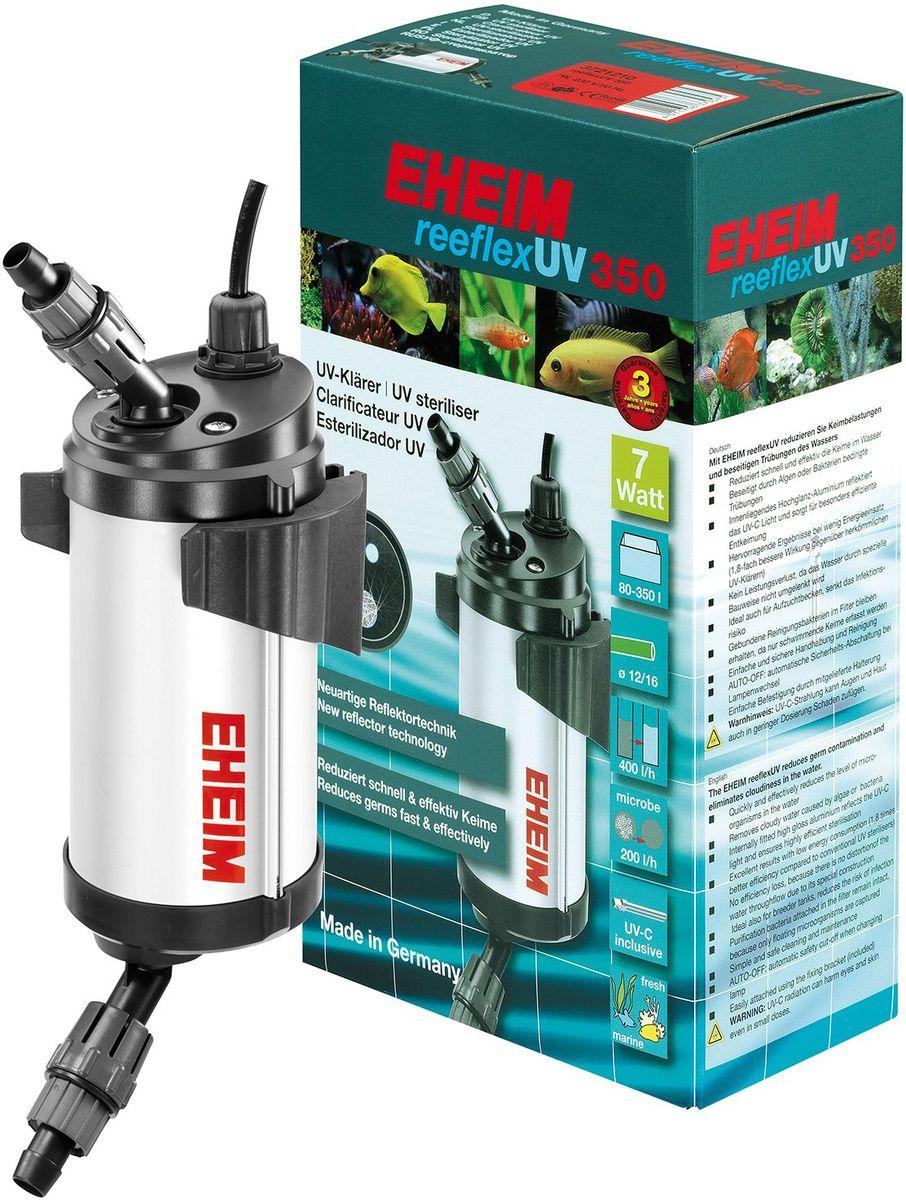 Стерилизатор для аквариума Eheim Reeflex-Uv-3502519051Стерилизатор для аквариума Eheim Reeflex-Uv-350 быстро и эффективно снижает количество микроорганизмов в воде. Устраняет замутнение, вызванное водорослями или бактериями. Находящийся внутри глянцевый алюминиевый слой отражает ультрафиолетовый свет и обеспечивает особо эффективное обеззараживание. Предотвращает потерю производительности благодаря специальной конструкции, сохраняющей движение воды. Также идеально подходит для отсадников, снижает риск инфекционного заражения.Фильтрующие бактерии, обитающие в субстракте, сохраняются до появления плавающих форм. Простой и безопасный в обращении и очистке. Auto-off автоматическое предохранительное отключение при замене ламп.Легко крепится с помощью прилагаемого специального крепления.Для аквариумов: 80 - 350 л. Мощность при 60 Гц мин: 7 ватт. Максимальное давление при 50 Гц: 0,80 бар. Ширина: 106 мм. Высота: 309 мм. Глубина: 128 мм. Напряжение: 230 вольт. Частота: 50 Гц.