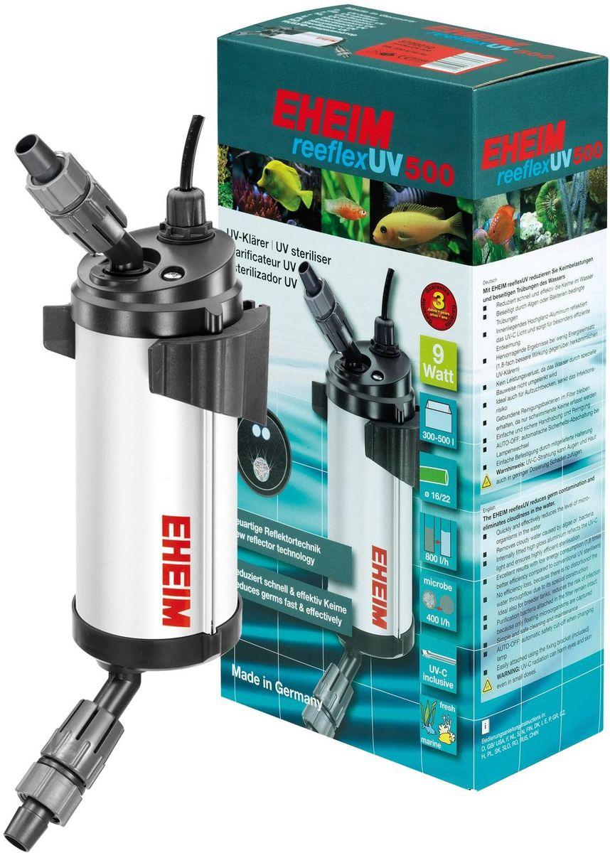 Стерилизатор для аквариума Eheim Reeflex-Uv-50012171996Стерилизатор для аквариума Eheim Reeflex-Uv-500 быстро и эффективно снижает количество микроорганизмов в воде. Устраняет замутнение, вызванное водорослями или бактериями. Находящийся внутри глянцевый алюминиевый слой отражает ультрафиолетовый свет и обеспечивает особо эффективное обеззараживание. Предотвращает потерю производительности благодаря специальной конструкции, сохраняющей движение воды. Также идеально подходит для отсадников, снижает риск инфекционного заражения.Фильтрующие бактерии, обитающие в субстракте, сохраняются до появления плавающих форм. Простой и безопасный в обращении и очистке. Auto-off автоматическое предохранительное отключение при замене ламп.Легко крепится с помощью прилагаемого специального крепления.Для аквариумов: 300 - 500 л. Мощность при 60 Гц мин: 9 ватт. Максимальное давление при 50 Гц: 0,80 бар. Ширина: 106 мм. Высота: 383 мм. Глубина: 149 мм. Напряжение: 230 вольт. Частота: 50 Гц.