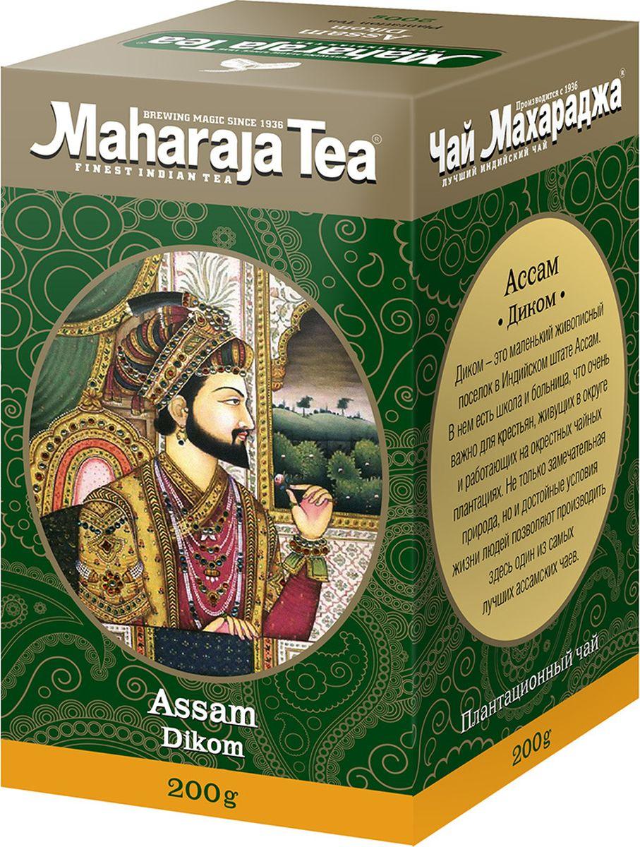 Maharaja Tea Диком чай черный байховый, 200 г0120710Этот чай называют правильным благородным ассамом - не очень крупный, хорошо скрученный, имеет много типсов, тёмный настой и ожидаемая терпкость.