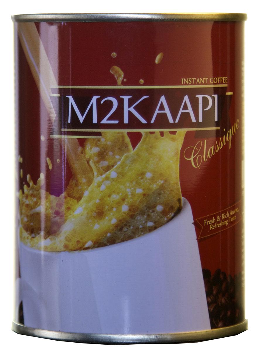 M2Kaapi кофе растворимый гранулированный, 100 г0120710100% натуральный кофе растворимый гранулированный M2Kaapi. Кофе не содержит искусственных добавок и ароматизаторов, содержит 3,77 % кофеина.
