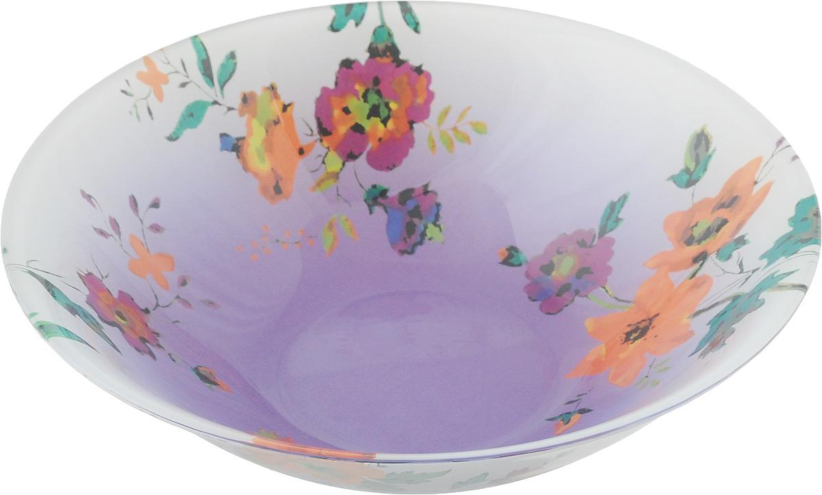 Салатник Luminarc Maritsa Purple, диаметр 16,5 см115510Салатник Luminarc Maritsa Purple выполнен из высококачественного стекла. Он прекрасно впишется в интерьер вашей кухни и станет достойным дополнением к кухонному инвентарю.Салатник Luminarc Maritsa Purple создаст весеннее настроение на вашей кухне. В нем ваши любимые салаты будут смотреться по особенному свежо и аппетитно.Можно мыть в посудомоечной машине и использовать в СВЧ.Диаметр салатника (по верхнему краю): 16,5 см.Высота стенки салатника: 5 см.