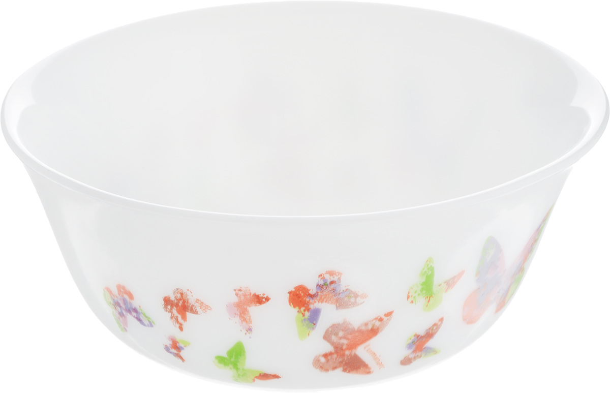 Салатник Luminarc Minesence, диаметр 12 см115610Великолепный круглый салатник Luminarc Minesence, изготовленный из ударопрочного стекла, прекрасно подойдет для подачи различных блюд: закусок, салатов или фруктов. По бокам изделие оформлено оригинальным принтом. Такой салатник украсит ваш праздничный или обеденный стол, а оригинальное исполнение понравится любой хозяйке. Бренд Luminarc - это один из лидеров мирового рынка по производству посуды и товаров для дома. В основе процесса изготовления лежит высококачественное сырье, а также строгий контроль качества. Товары для дома Luminarc уважают и ценят во всем мире, а многие эксперты считают данного производителя эталоном совершенства. Диаметр салатника (по верхнему краю): 12 см.