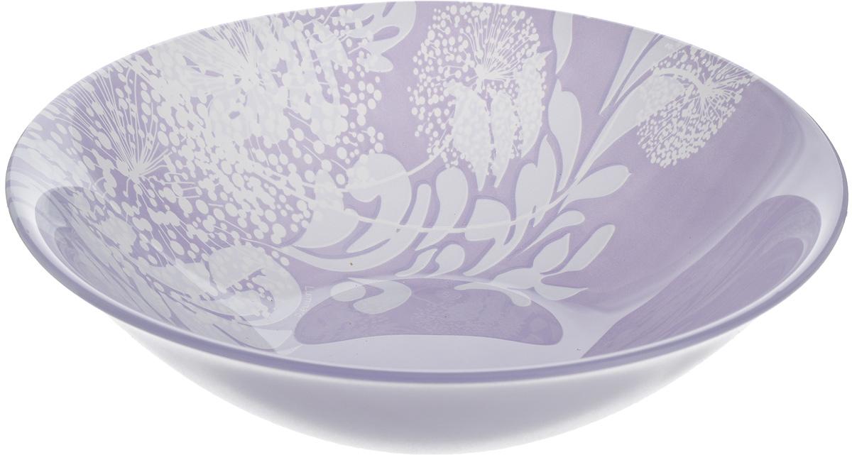 Салатник Luminarc Pium Violett, диаметр 17 смH4702Великолепный круглый салатник Luminarc Pium Violett, изготовленный из ударопрочного стекла, прекрасно подойдет для подачи различных блюд: закусок, салатов или фруктов. С внутренней стороны изделие оформлено оригинальным цветочным принтом. Такой салатник украсит ваш праздничный или обеденный стол, а оригинальное исполнение понравится любой хозяйке. Бренд Luminarc - это один из лидеров мирового рынка по производству посуды и товаров для дома. В основе процесса изготовления лежит высококачественное сырье, а также строгий контроль качества. Товары для дома Luminarc уважают и ценят во всем мире, а многие эксперты считают данного производителя эталоном совершенства.Диаметр салатника (по верхнему краю): 17 см.