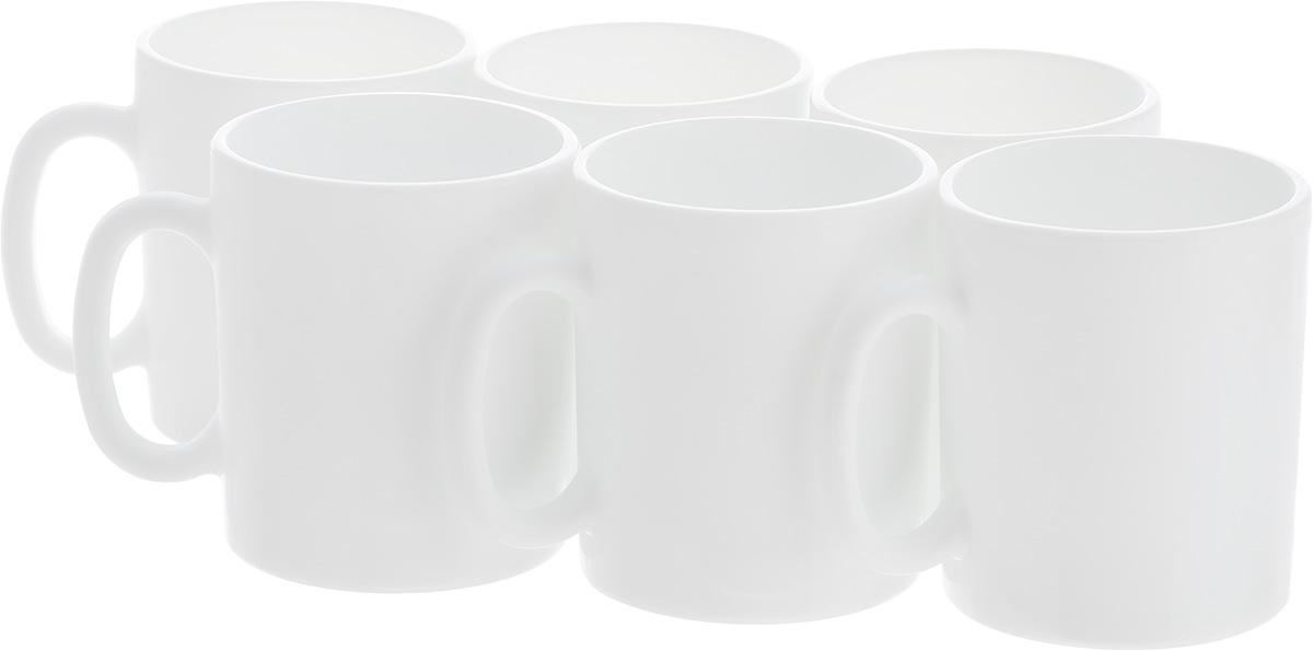 Набор кружек Luminarc Эссенс, 320 мл, 6 штVT-1520(SR)Набор Luminarc Эссенс состоит из шести кружек с удобными ручками, выполненных из прочного стекла с глазурованным покрытием. Посуда Luminarc будет радовать вас качеством изготовления. Изделия можно использовать в микроволновой печи. Разрешено мыть в посудомоечной машине. Объем кружки: 320 мл.Диаметр (по верхнему краю): 8 см.Высота: 9 см.