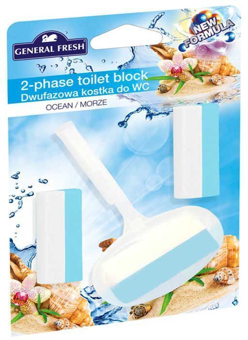 Двухкомпонентный ароматический блок для унитазов General Fresh Dwufazowa Kostka do WC, + 2 вкладыша, 1 шт. 51404441619Очищает поверхность унитаза, предотвращая образование известкового налета. Уничтожает бактерии даже в труднодоступных местах. Создает обильную пену и стойкий свежий аромат при каждом сливе воды.