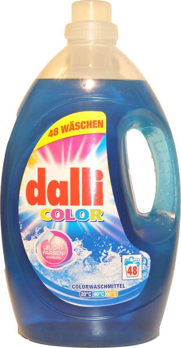 Гель для стирки цветного белья Dalli Колор Гель XL, на 48 стирок, 3,6 л106-026Концентрированный гель для стирки цветного и белого белья, не требующего отбеливания, с системой защиты цвета при Т 30С-60С. Специальная формула не только восстанавливает цвет, и ухаживает за волокнами, но и надежно защищает яркость, свежесть и насыщенность красок.Не содержит фосфаты, не требует доп. средств от извести. Применение: нормальное загрязнение, средняя вода-75мл=2 колпачка, ручная стирка 38 мл= 1 колпачок на 5 литров воды. Состав: 5-15% анионовые тензиды, неанионные тензиды, менее 5% мыло и фосфонаты, содержит энзимы, отдушку.