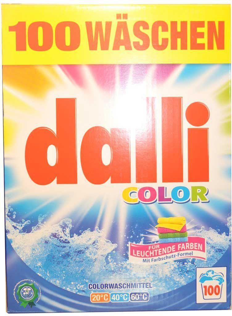 Стиральный порошок Dalli Колор, для цветного белья, на 100 стирок, суперконцентрат, 6,5 кг10646Концентрированный стиральный порошок для цветных и белых тканей, не требующих отбеливания, с формулой сохранения цвета и защиты волокон, хорошо растворяется, не требуется замачивания. Не содержит фосфатов, не требует дополнительных средств от извести. Температура стирки 30 - 60 С. Применение: дозировка: нормальное загрязнение, средняя вода - 85 мл (70 г), ручная стирка - 30 мл на 10 л воды. Состав: менее 30% цеолит, 5-15% неанионные тензиды, анионные тензиды, более 5% фосфанаты, полукарбоксилаты.