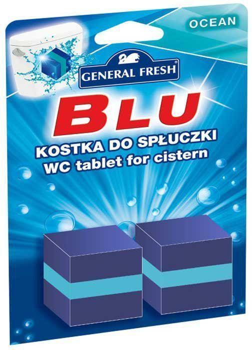 Очиститель-освежитель General Fresh WC. Blu, для смывного бачка, квадрат, 2 х 50 г. 545000GC204/30Без особых хлопот обеспечит гигиеническую чистоту, и свежесть вашего туалета в течение длительного времени. Тройного действия. 1. Очищает поверхность унитаза, предотвращая образование известкового налета. 2. Уничтожает бактерии даже в труднодоступных местах. 3. Создает обильную пену и стойкий свежий аромат при каждом сливе воды.