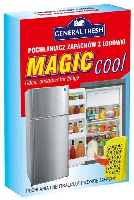 Поглотитель запахов General Fresh Magic Cool, для холодильников, 1 шт. 587101VT-1520(SR)Поглотитель запахов для холодильников MAGIC COOL устраняет неприятные запахи, вместо того, чтобы их маскировать. Благодаря содержанию активированного угля, средство эффективно поможет избавиться от неприятных запахов, обеспечивая комфортную атмосферу в вашем доме.