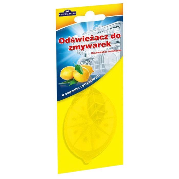 Освежитель General Fresh Odswiezacz Do Zmywarek, для посудомоечных машин, 1 шт. 593900790009Освежитель для посудомоечных машин ODSWIEZACZ DO ZMYWAREK лимон это конец неприятным запахам из посудомоечной машины. Независимо от того, только что закончилось время мытья, или вы в процессе загрузки следующей партии посуды, вы не будете чувствовать ничего кроме свежих запахов. Благодаря освежителю, использование посудомоечной машины будет таким приятным, как никогда раньше. Удобный в подвеске освежитель для посудомоечной машины General Fresh доступен в трех вариантах запаховых композиций: лимон, зеленое яблоко и мята.