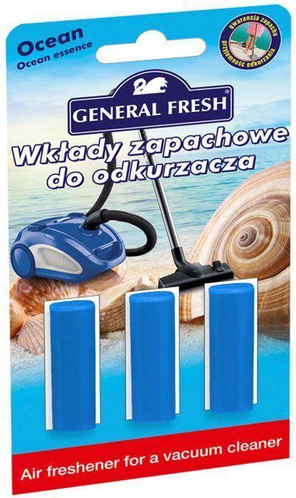 Освежитель воздуха General Fresh Air Fresh, для пылесоса, 1 шт. 59512068/5/1Освежитель воздуха для пылесоса AIR FRESH нейтрализует неприятные запахи, оставляя в доме приятный аромат. Досконально подобранная ароматическая композиция обеспечивает длительный эффект до момента замены мешка
