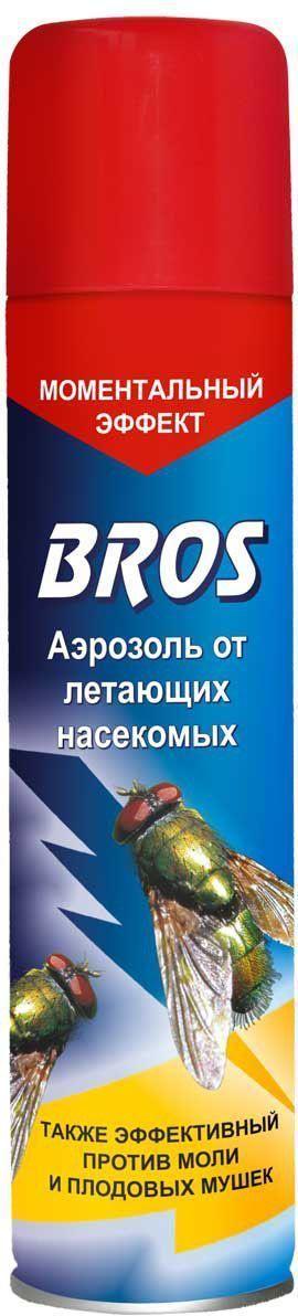 Аэрозоль BROS, от летающих насекомых, 250 мл6.295-875.0Аэрозоль BROS - это препарат для борьбы с летающими насекомыми. Сочетание нескольких новейших активных веществ позволило достичь как мгновенного действия (эффект нокдауна), так и эффективности там, где насекомые стали устойчивы к прежде применяемым препаратам.Предназначен для уничтожения в помещениях летающих насекомых (мух, комаров, москитов, мошек, бабочек моли).Применение: Закрыть окна и двери. Перед применением баллон встряхнуть. Обработку следует проводить, двигаясь спиной от окна по направлению к выходу. Направить струю аэрозоля в воздух, держа баллон вертикально. Норма расхода средства: 7-8 сек. распыления на помещение площадью 14-18 м2. Распылять на расстоянии 1 м от стен, мебели. Для уничтожения моли средством обрабатывают внутренние стенки шкафов, чемоданов, коробок и т.п. в течение 9-18 сек. Перед обработкой вынуть все вещи из шкафов, чемоданов, коробок. После обработки помещение оставить закрытым на 15 минут, затем тщательно проветрить и провести влажную уборку поверхностей, с которыми могут соприкасаться люди. Одежду не обрабатывать.Состав: d-фенотрин 0,1% (0,1 г/ 100 г), праллетрин 0,09% (0,09 г/100 г), пиперонилбутоксид 0,45% (0,45 г/100 г), растворитель, функционльные добавки, углеводородный пропеллент.