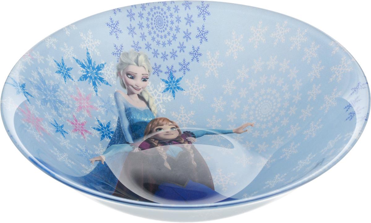 Салатник Luminarc Disney Frozen, диаметр 16 см115510Салатник Luminarc Disney Frozen выполнен из ударопрочного стекла. Оригинальный рисунок с изображением любимых героев сказки несомненно понравится вашему ребенку. Можно мыть в посудомоечной машине и использовать в СВЧ. Диаметр (по верхнему краю): 16 см.Высота салатника: 5 см.