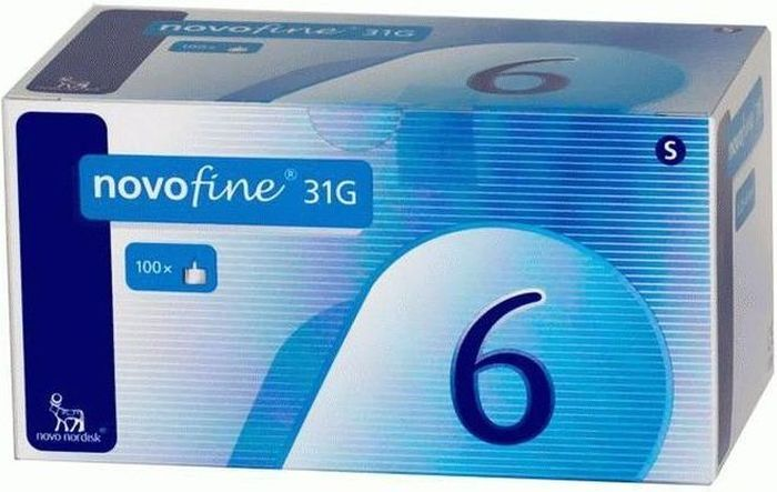 Иглы для шприц-ручки Novofine, 0,25 мм (31G) х 6 мм, 100 шт8809239411036Иглы одноразовые для введения инсулина Новофайн (NovoFine) от компании Ново Нордиск (Novo Nordisk) используются в шприц-ручках для инъекций инсулина практически всех производителей. Длина иглы 6 мм, диаметр 31G (0,25 мм);Иглы Новофайн совместимы со следующими шприц-ручками для инсулина:• Шприц-ручка АвтоПен 24 (AutoPen 24)• Шприц-ручка АвтоПен Классик (AutoPen Classic)• Шприц-ручка Баетта Пен (Byetta Pen)• Шприц-ручка БерлиПен 302 (BerliPen 302)• Шприц-ручка БерлиПен Арео (BerliPen Areo)• Шприц-ручка БерлиПен Арео 2 (BerliPen Areo 2)• Шприц-ручка Биоматик Пен• Шприц-ручка Биосулин Пен• Шприц-ручка Виктоза Пен (Victoza Pen)• Шприц-ручка ИнноЛет (InnoLet)• Шприц-ручка КвикПен (KwikPen)• Шприц-ручка Новопен 3 (NovoPen 3)• Шприц-ручка Новопен 3 Деми (NovoPen 3 Demi)• Шприц-ручка НовоПен 4 (NovoPen 4)• Шприц-ручка НовоПен Джуниор (NovoPen Junior)• Шприц-ручка НовоПен Эхо (NovoPen Echo)• Шприц-ручка Омникан 31 (Omnican 31)• Шприц-ручка ОптиКлик (OptiClik)• Шприц-ручка Оптипен Про 1 (Optipen Pro1)• Шприц-ручка ОптиСет (OptiSet)• Шприц-ручка СолоСтар (SoloStar)• Шприц-ручка ТактиПен (TactiPen)• Шприц-ручка Упсопен (Ypsopen)• Шприц-ручка ФлексПен (FlexPen)• Шприц-ручка ФлексТач (FlexTouch)• Шприц-ручка ХумаПен Люксура (Humapen Luxura)• Шприц-ручка ХумаПен Люксура ДТ (Humapen Luxura HD)• Шприц-ручка ХумаПен Мемори (HumaPen Memoir) • Шприц-ручка Хумапен Эрго (Humapen Ergo)• Шприц-ручка Хумапен Эрго 2 (Humapen Ergo 2)Особенности:Особая заточка, силиконовое покрытие и электронная полировка позволяют не травмировать ткани, избегать постинъекционных кровотечений и делают уколы практически безболезненными.Более широкий внутренний диаметр снижает сопротивление току инсулина на 40% и уменьшает усилие, необходимое для инъекции.В комплекте поставки:100 одноразовых иголок, упакованных в индивидуальную стерильную упаковку.