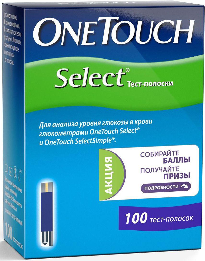 Тест-полоски  OneTouch Select , 100 шт - Аксессуары для медицинской техники
