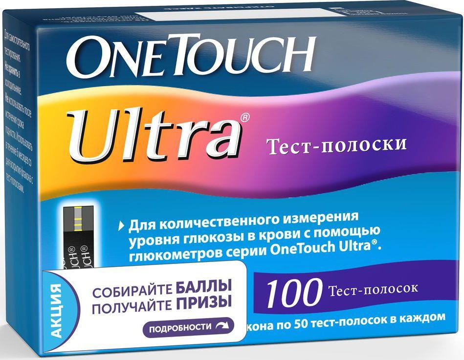 Тест-полоски  OneTouch Ultra , 100 шт - Аксессуары для медицинской техники