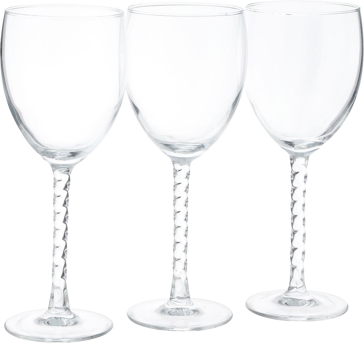 Набор бокалов Luminarc Authentic, 310 мл, 3 штVT-1520(SR)Набор Luminarc Authentic состоит из трех бокалов, выполненных из прочного стекла. Изделия оснащены высокими рельефными ножками и предназначены для подачи вина. Такой набор прекрасно оформит праздничный стол и создаст приятную атмосферу за романтическим ужином. Можно мыть в посудомоечной машине.Диаметр бокала (по верхнему краю): 7,3 см. Высота бокала: 20,3 см.