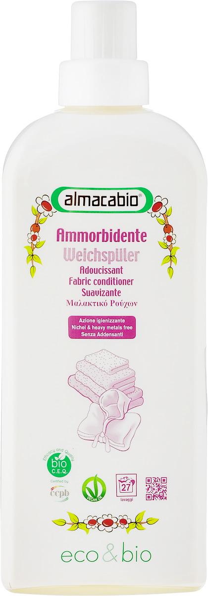 Кондиционер для белья Almacabio Fabric Conditioner, 1 л2202900Кондиционер для белья Almacabio Fabric Conditioner распрямляет ткани и снижает количество остатков кальция, оседающих на белье при стирке. Придает одежде мягкость, смягчает волокна тканей, обеспечивает мягкость льняной и деликатной одежды. Без загустителей. Облегчает процесс глажения. Деликатен к тканям, коже рук и ногтям, не требует использования перчаток, гипоаллергенно. Не содержит фосфор, фосфаты, энзимы и компоненты животного происхождения. Возможно загустение средства. Перед применением встряхивать.Товар сертифицирован.