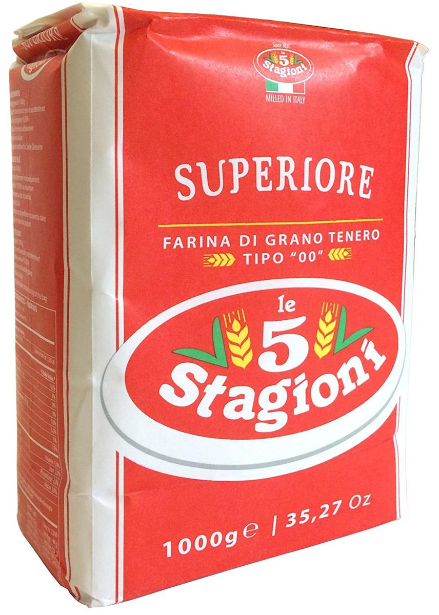5 Stagioni Мука для пиццы из мягких сортов пшеницы, 1 кг мука пшеничная обойная пудов