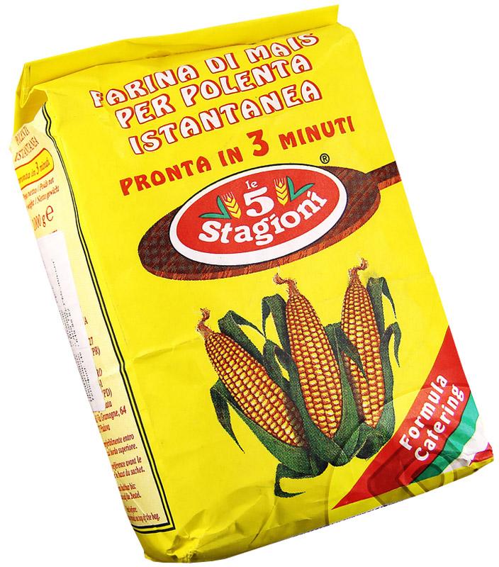 5 Stagioni Полента кукурузная Истантанеа, 1 кг0120710Быстрорастворимая кукурузная мука Истантанеа для приготовления поленты (от итальянского polenta, что означает каша из кукурузной крупы, аналогично мамалыге). Чаще всего употребляют на севере Италии.Мука содержит большое количество микроэлементов, витаминов, не вызывает аллергических реакций. Превосходно сочетается с мясом, анчоусами, грибами, морепродуктами, оливками, томатами, мягкими сырами.