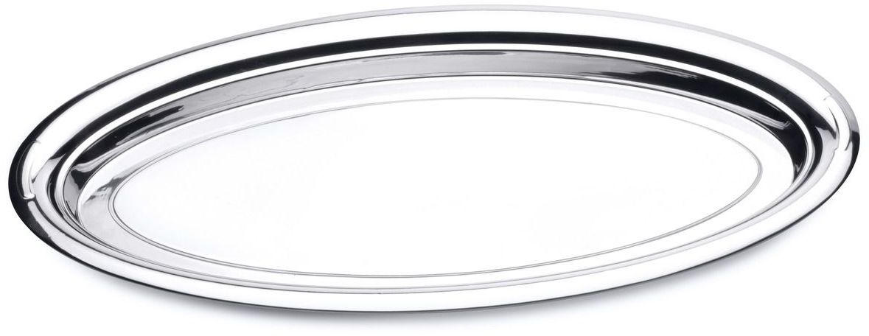 Блюдо сервировочное BergHOFF Straight, овальное, 60 х 32 см115510Блюдо сервировочное BergHOFF Straight овальной формы выполнено из стали с серебряно-никелевым покрытием. Блюдо с зеркальной поверхностью отлично подойдет для красивой сервировки различных блюд, закусок и фруктов на праздничном столе. Изящный дизайн придется по вкусу и ценителям классики, и тем, кто предпочитает утонченность и изысканность.