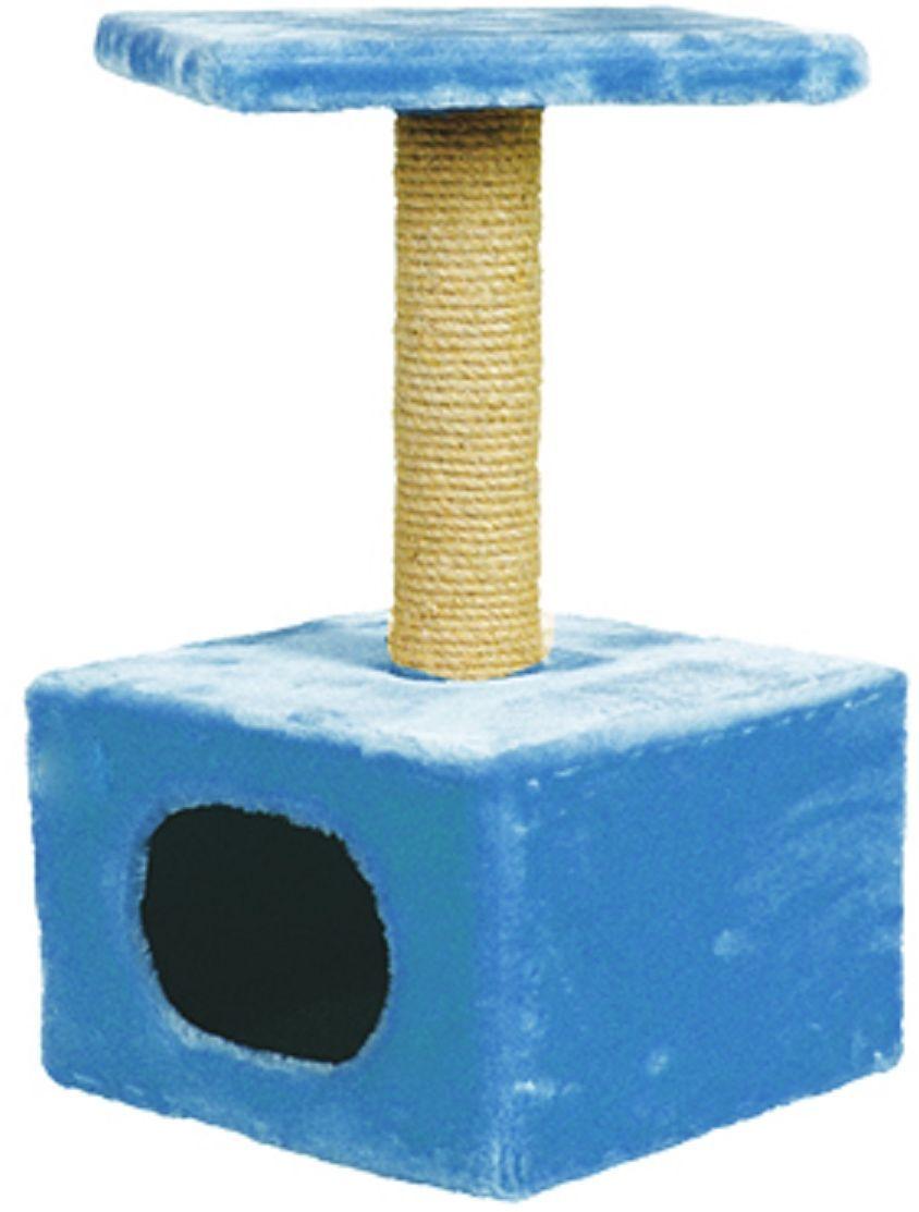 Дом для кошек Зооник, цвет: голубой, 34 х 34 х 60 см0120710Дом для кошек Зооник изготовлен из высококачественного искусственного меха. Просторный домик подойдет для котят и для взрослых кошек. Над основным местом отдыха находится дополнительная площадка, на которой ваш любимец сможет полежать свесив лапки. Также предусмотрена когтеточка из комбинированной веревки (пенька/сизаль). Домики Зооник отличает высокое российское качество при доступной цене.