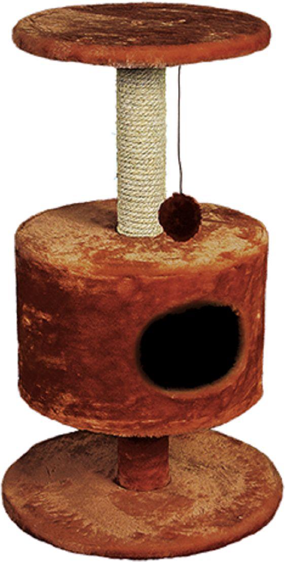 Дом для кошек Зооник, на подставке, цвет: коричневый, 51 х 86 см0120710Дом для кошек Зооник изготовлен из высококачественного искусственного меха. Просторный домик подойдет для котят и для взрослых кошек. Над основным местом отдыха находится дополнительная площадка, на которой ваш любимец сможет полежать свесив лапки. Также предусмотрена когтеточка из комбинированной веревки (пенька/сизаль)и подвесная игрушка. Домики Зооник отличает высокое российское качество при доступной цене.