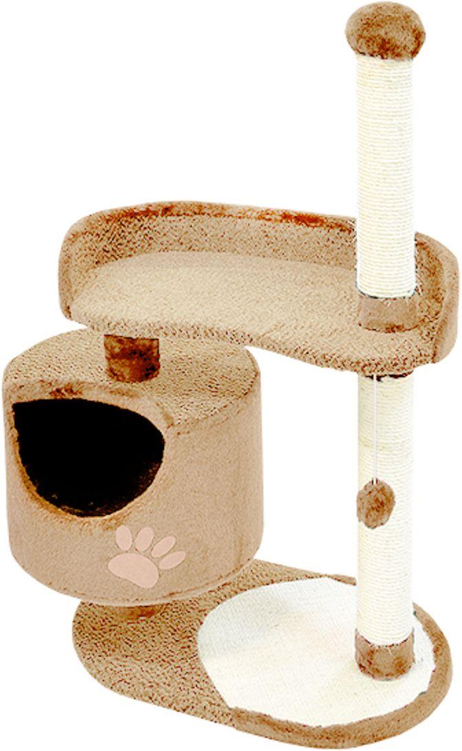 Комплекс для кошек Зооник, цвет: бежевый, 82 х 43 х 121 см0120710Комплекс для кошек Зооник изготовлен из коврового велюра. Просторный домик подойдет для котят и для взрослых кошек. Над основным местом отдыха находится дополнительная площадка, на которой ваш любимец сможет полежать свесив лапки. Также предусмотрена когтеточка из комбинированной веревки(пенька/сизаль) и подвесная игрушка. Крышу домика украшает аппликация в виде кошки. Домики Зооник отличает высокое российское качество при доступной цене.