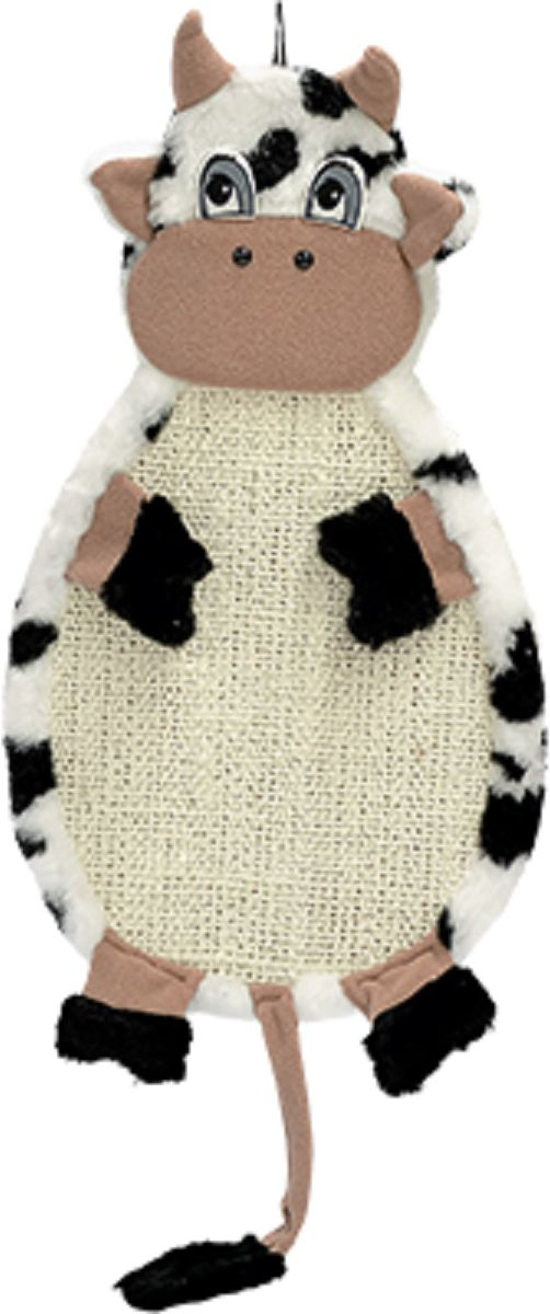 Когтеточка Зооник Коровка, подвесная, 53 х 29 х 3 см. 2237263012Удобная и прочная когтеточка подвесная Зооник Коровка будет прекрасным подарком для вашей кошки. Когтеточка сделана из ДСП, обтянута натуральной веревкой сизаль и мягким мехом, легко чистится. Размеры конструкции позволяют даже самой крупной кошке вытянуться в полный рост и привести свой маникюр в порядок. Легко крепится на стену на любую удобную для вашего любимца высоту.