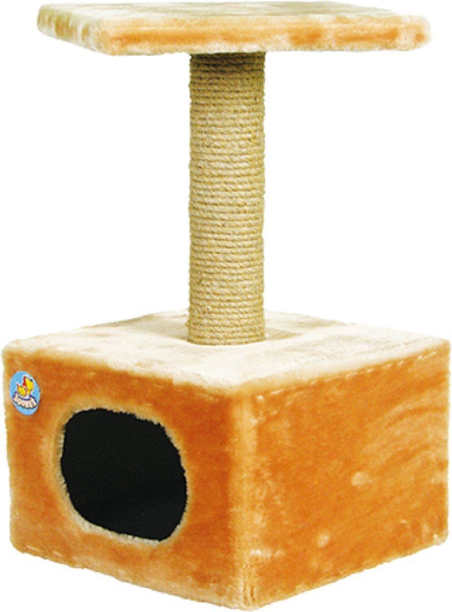 Дом для кошек  Зооник , цвет: бежевый, 34 х 34 х 60 см - Лежаки, домики, спальные места