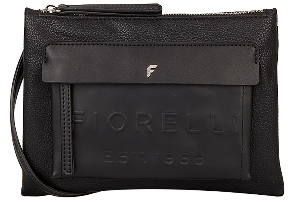 Сумка женская Fiorelli, цвет: черный. 8631 FH Black DebossL39845800Элегантная женская сумка Fiorelli изготовлена из качественной искусственной кожи. Модель с одним отделением закрывается на застежку молнию. Внутри отделение дополнено карманами. На лицевой части расположен карман на молнии под клапаном. Сумка оснащена плечевым ремнем, который можно регулировать по длине.